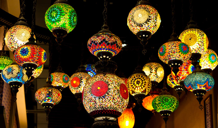 Turkish lanterns in Istanbul, Turkey