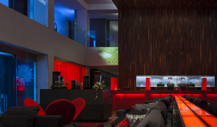The lobby of W Hotel, Montreal, Canada