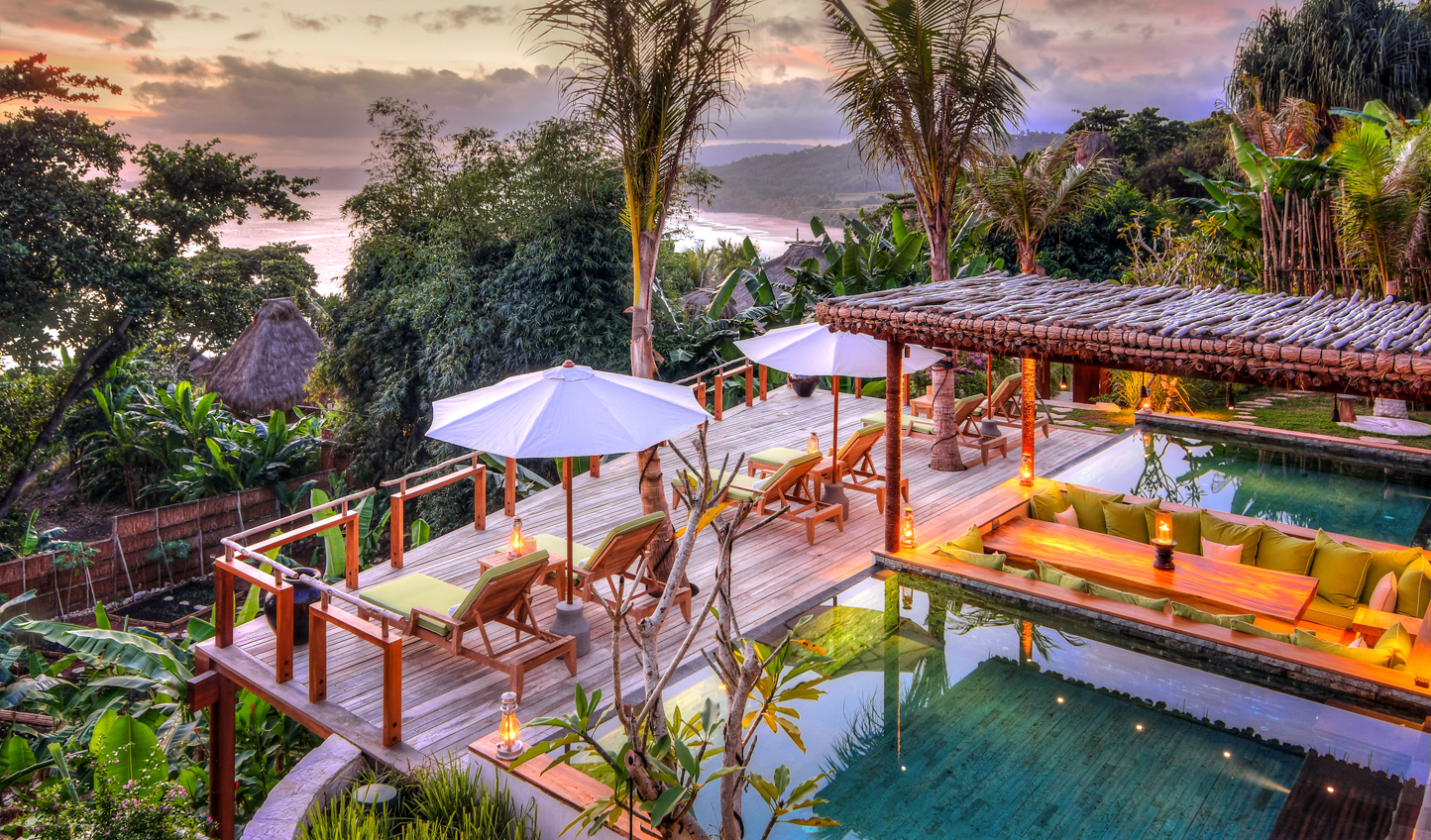 Perched in the tropical canopy, it's the perfect spot to watch the sunset