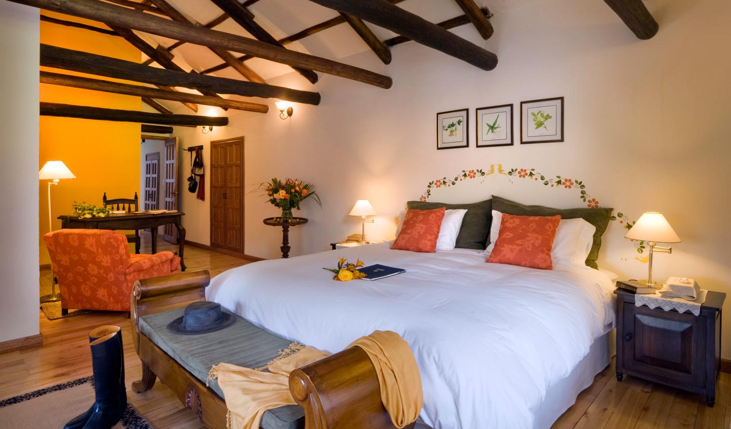 Traditional South American hacienda decor