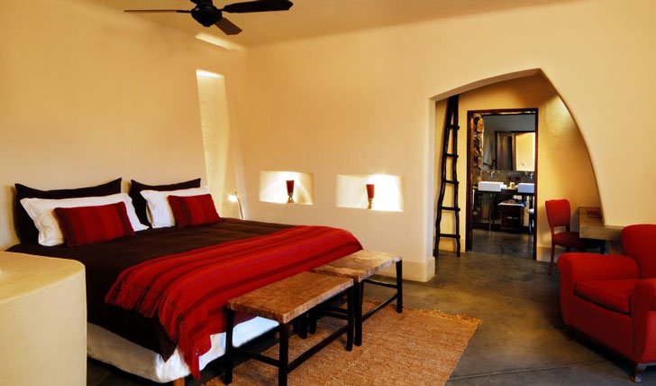 Luxury hotel guestroom at Cavas Wine Lodge, Argentina