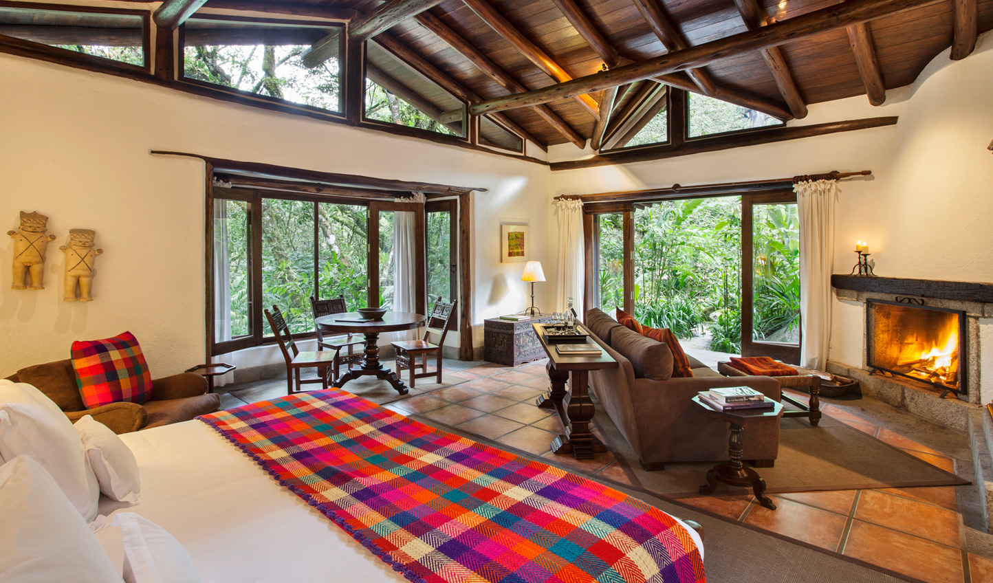 Look out over panoramic views from your room at Inkaterra Machu Picchu