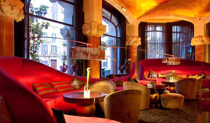 Luxury hotel Café Vienés at the Casa Fuster, Barcelona, Spain