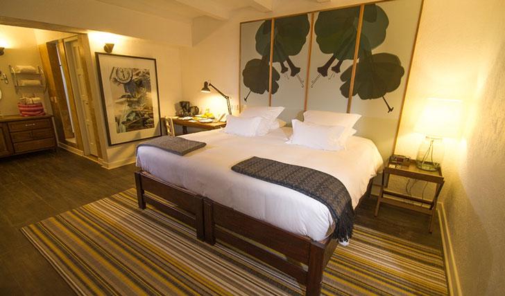 Luxury hotel guestroom at El Mercado Tunqui, Cusco, Peru