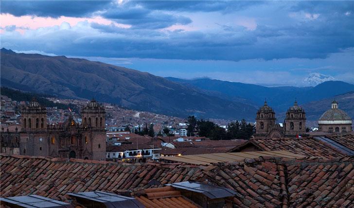 View of Cusco from luxury hotel El Mercado Tunqui