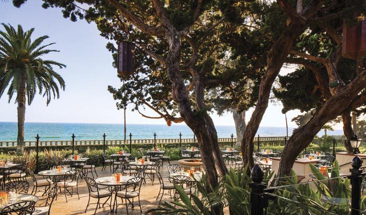 The terrace, Four Seasons, The Biltmore, Santa Barbara