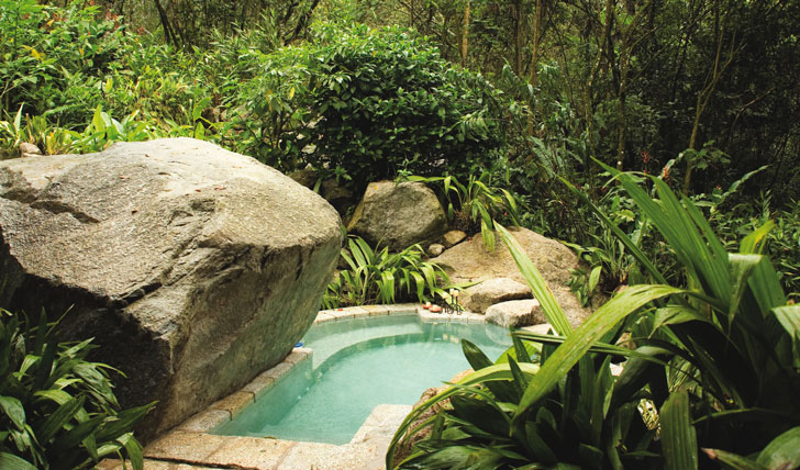 Luxury hotel plunge pool at Inkaterra, Machu Picchu, Peru