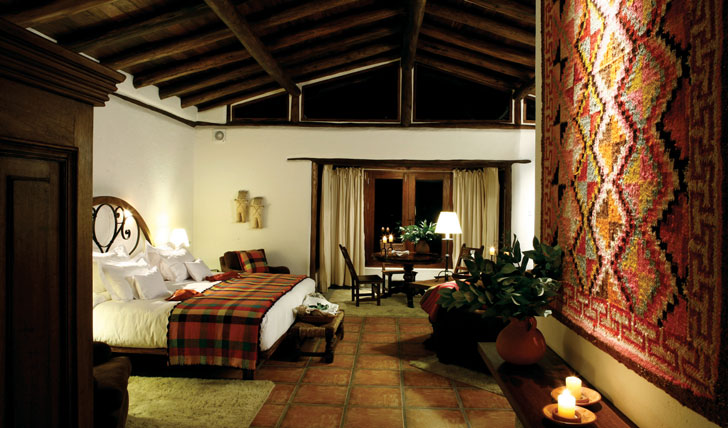 Luxury hotel villa at Inkaterra, Machu Picchu, Peru