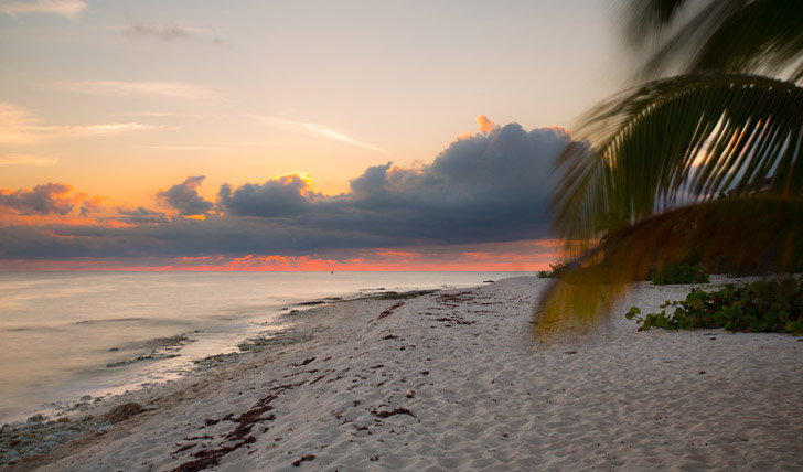The sunset over Little Cayman