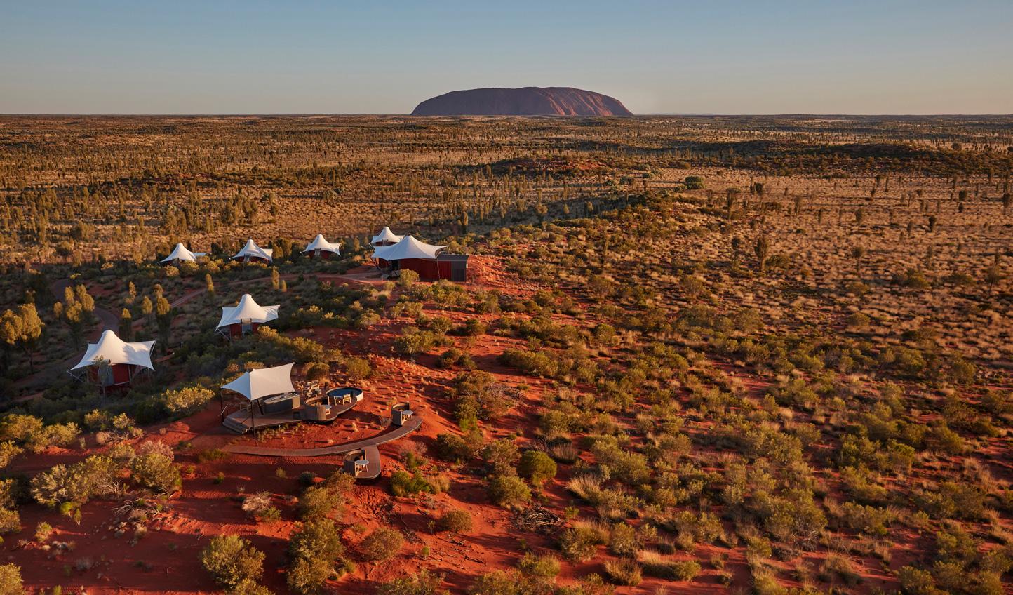 Sleep in the shadow of Uluru at Longitude 131