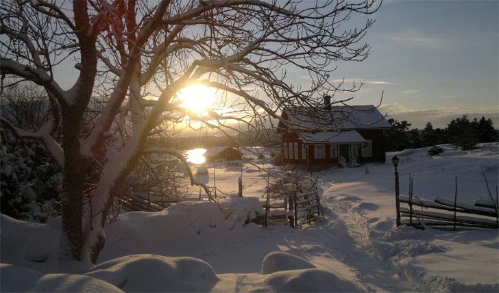 Snow over Silverskär