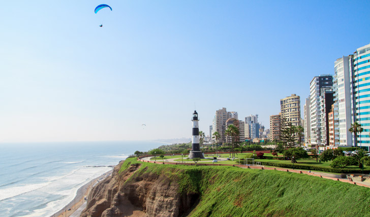 Views over Miraflores in Lima
