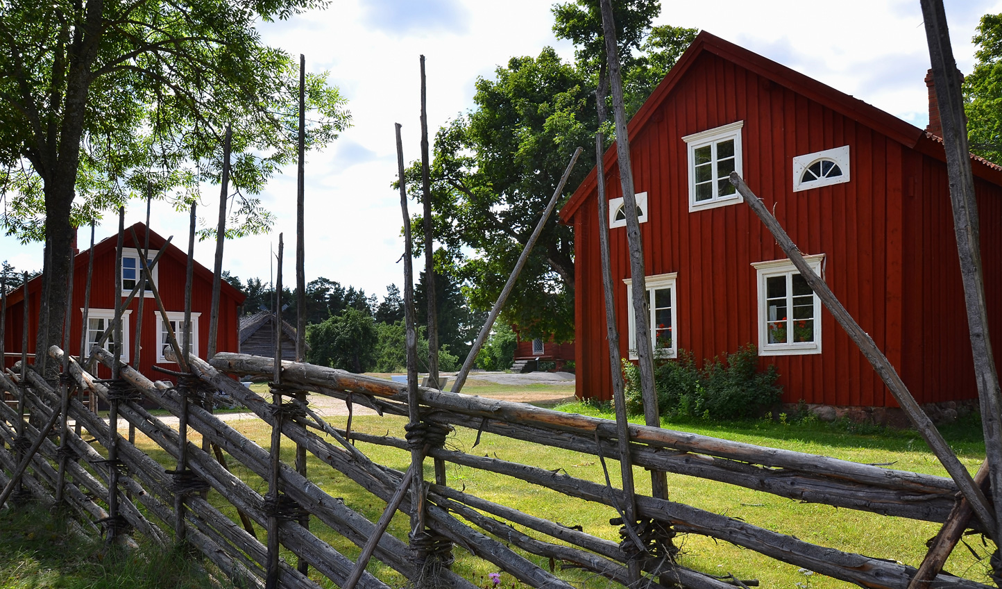 See traditional Åland Island villages