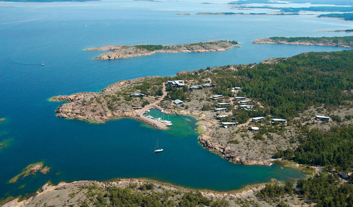 Aerial view of Havsvidden, Aland Islands