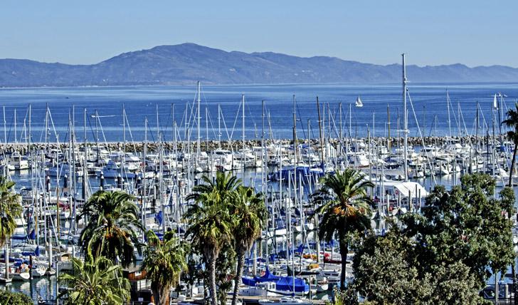 The marina in Santa Barbara