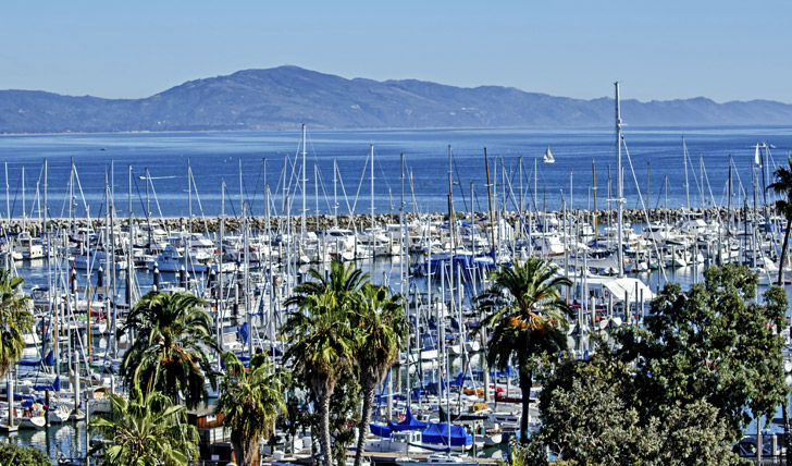 Santa Barbara marina, California