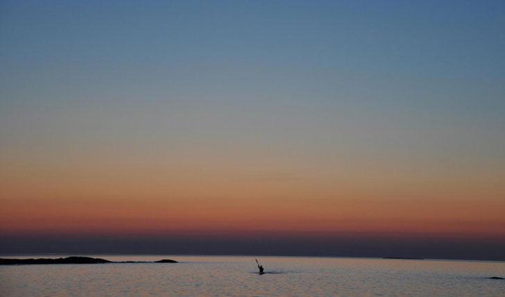 Paddling at Havsvidden