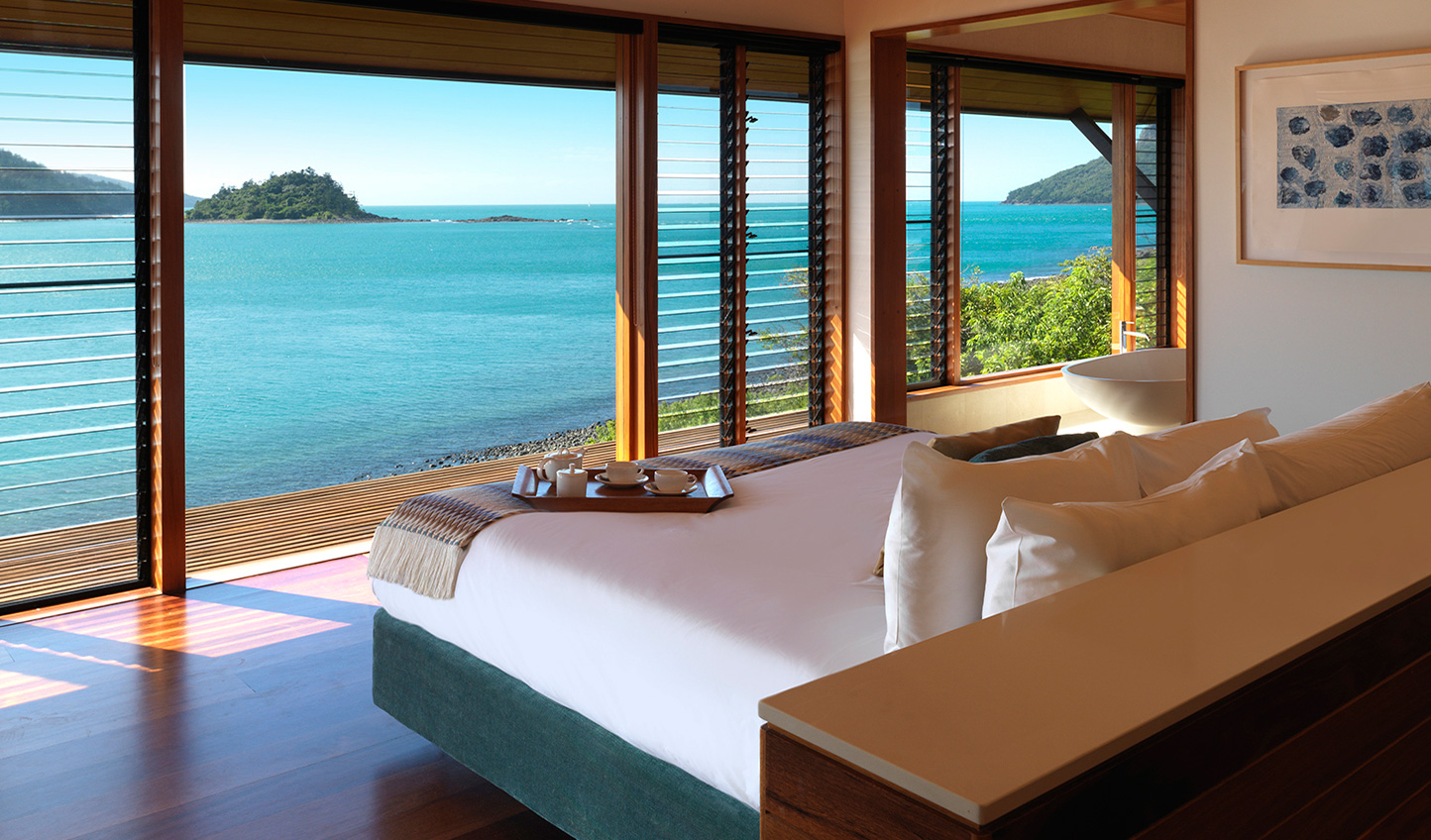 Wake up to breathtaking views out to the Great Barrier Reef
