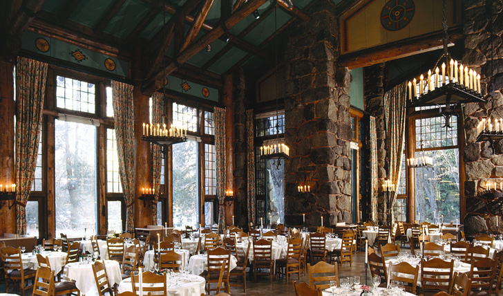 The dining hall at Awahnee, Yosemite | Trips to California