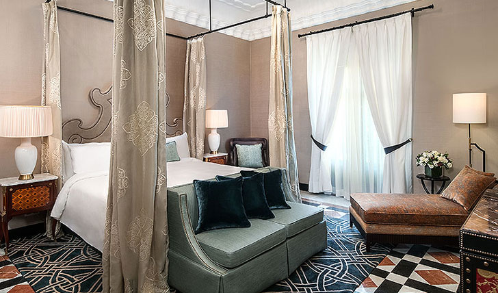 Luxury hotel Royal Suite at Alfonso XIII, Seville, Spain