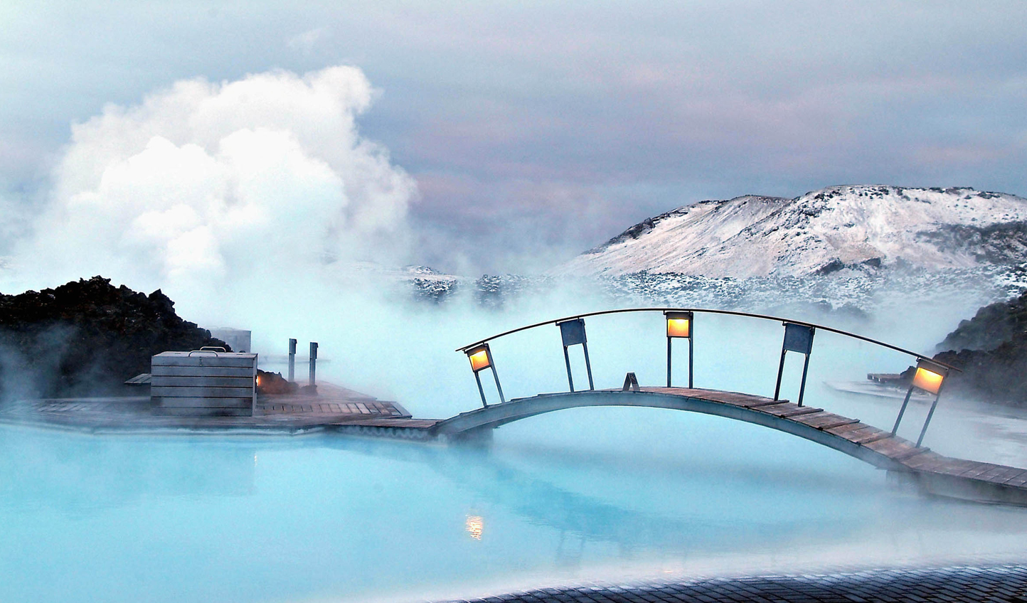 Take a dip in the geothermal waters of the Blue Lagoon