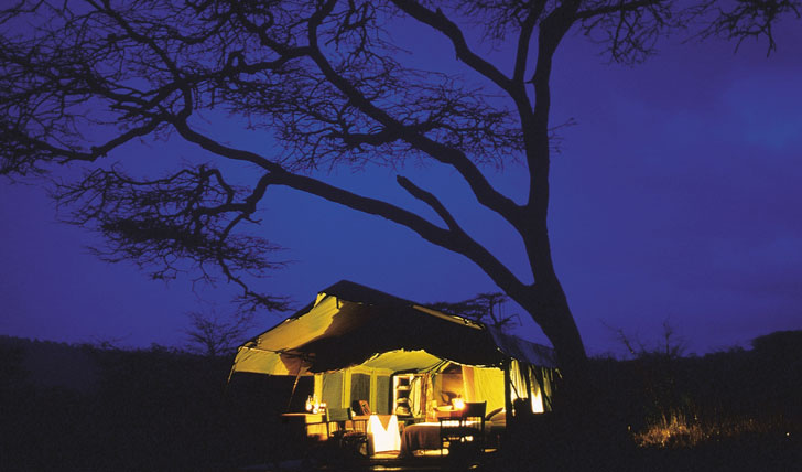 The Serengeti camp at Night