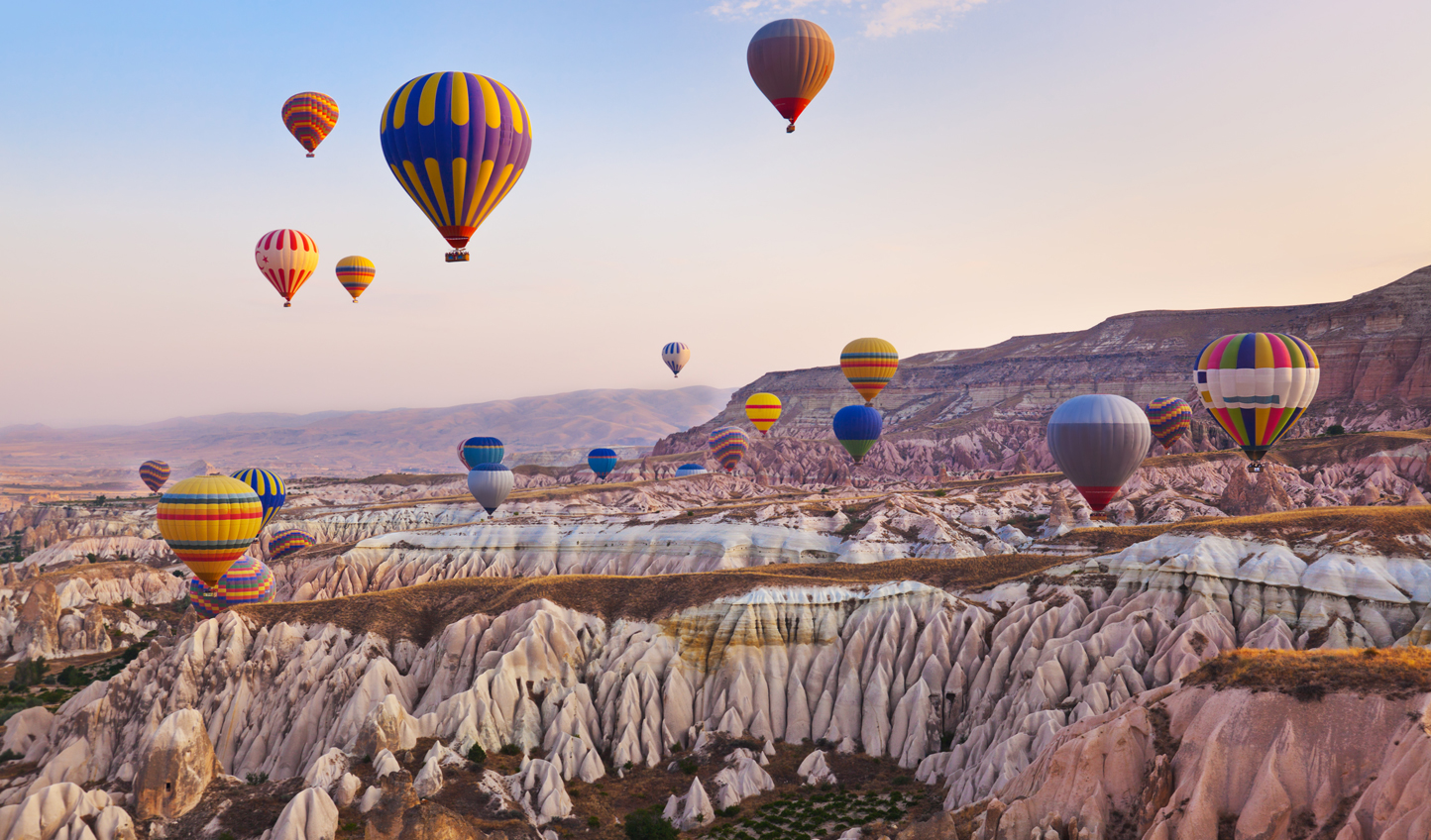 Ride the skies over Cappadocia