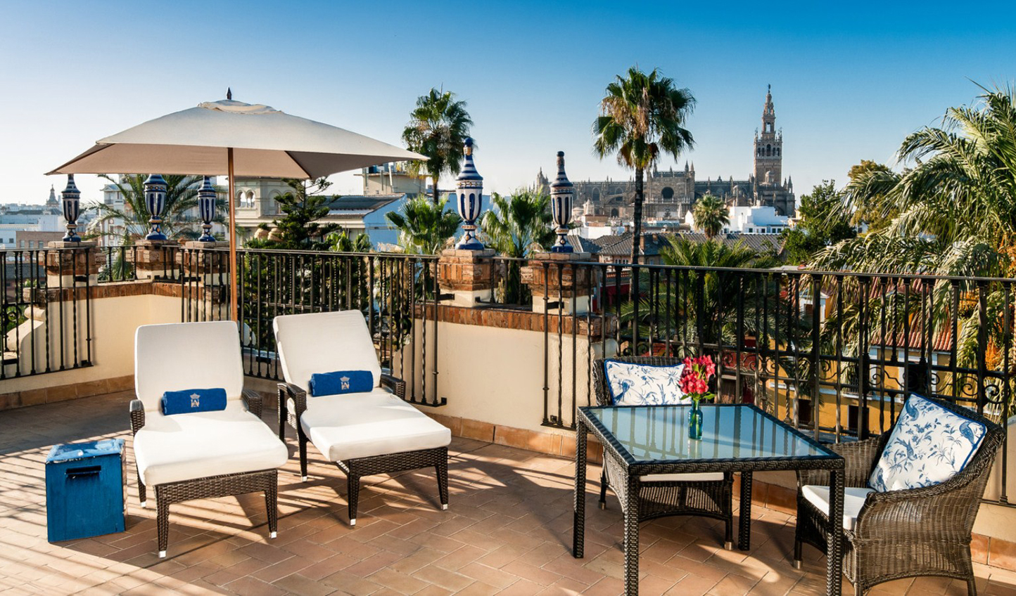 Enjoy the best views of the city from the rooftop of the Cathedral Terrace Suite