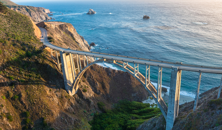 The iconic Bixby Creek Bridge