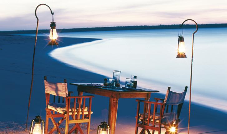 Luxury beach resort Mnemba