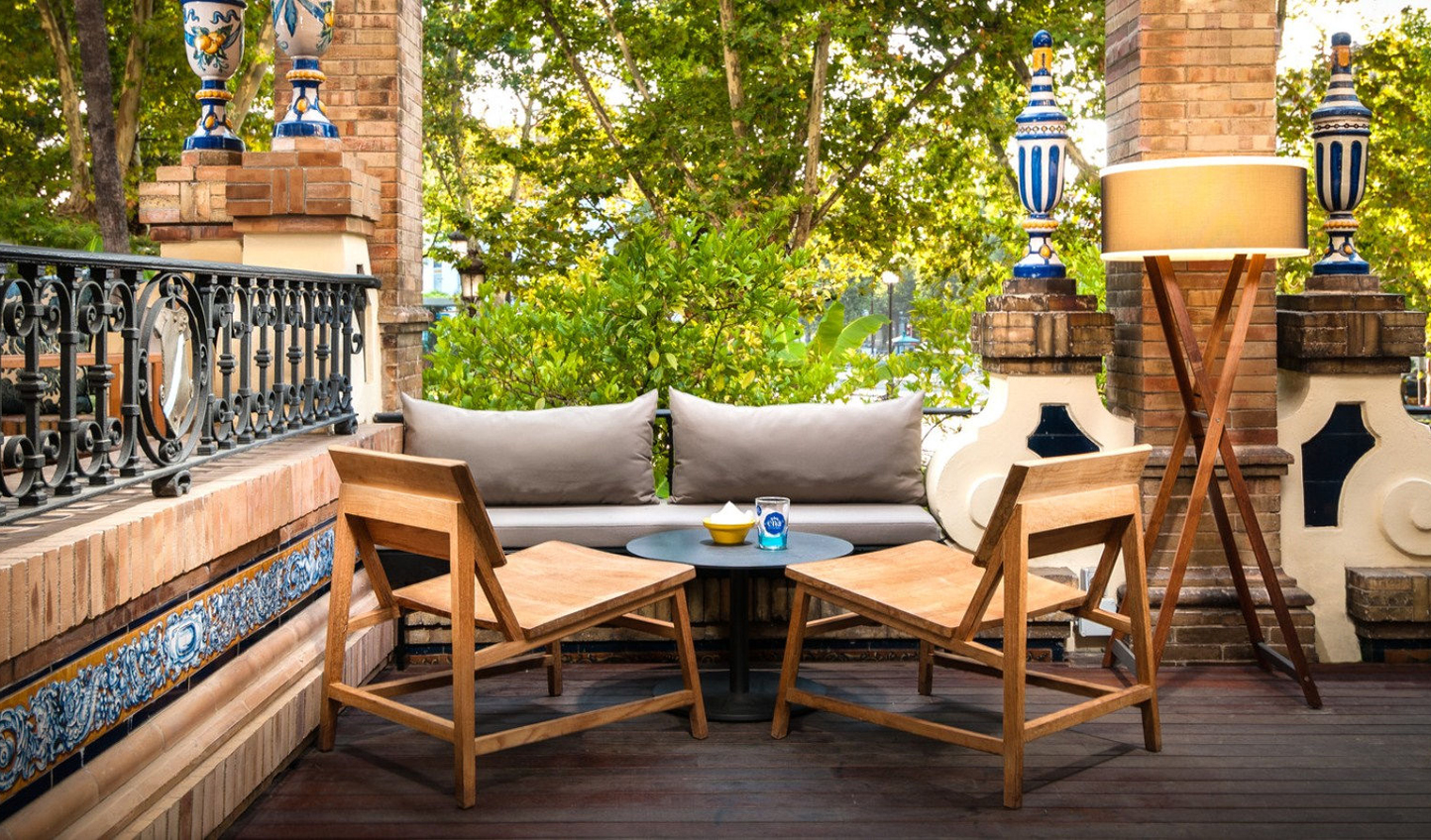 Spend afternoons relaxing out on the terrace of ENA