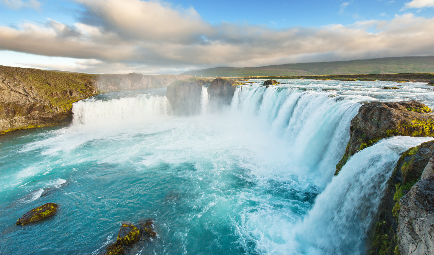 Take a trip out to the Golden Circle and witness the might of Godafoss