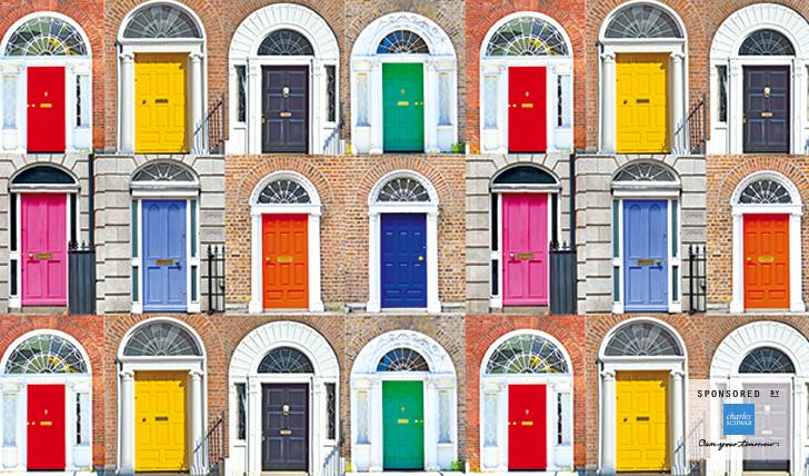 Colourful doors in Dublin, Ireland