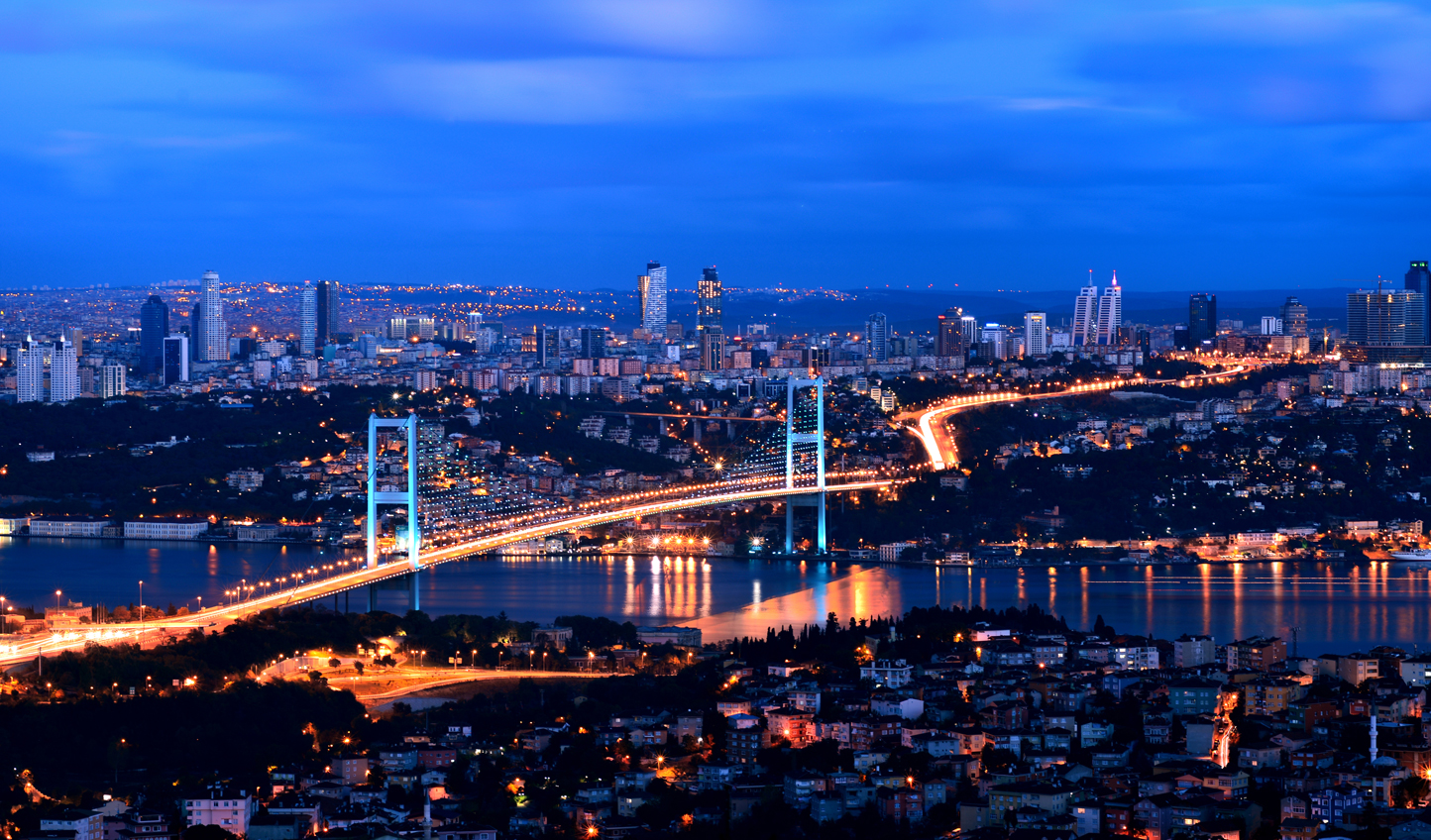 See both sides of the Bosphorus