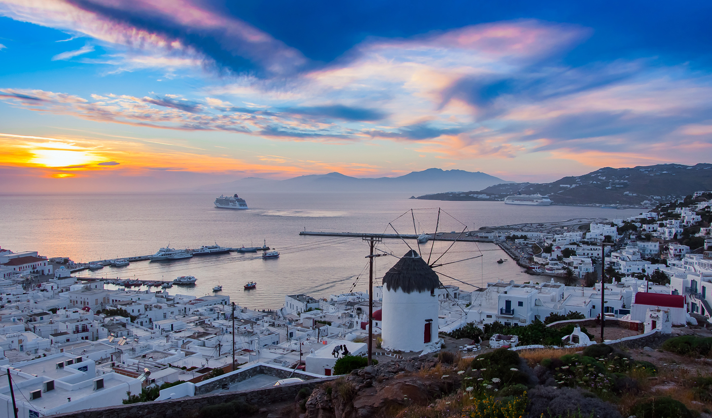 Picture perfect views over Mykonos