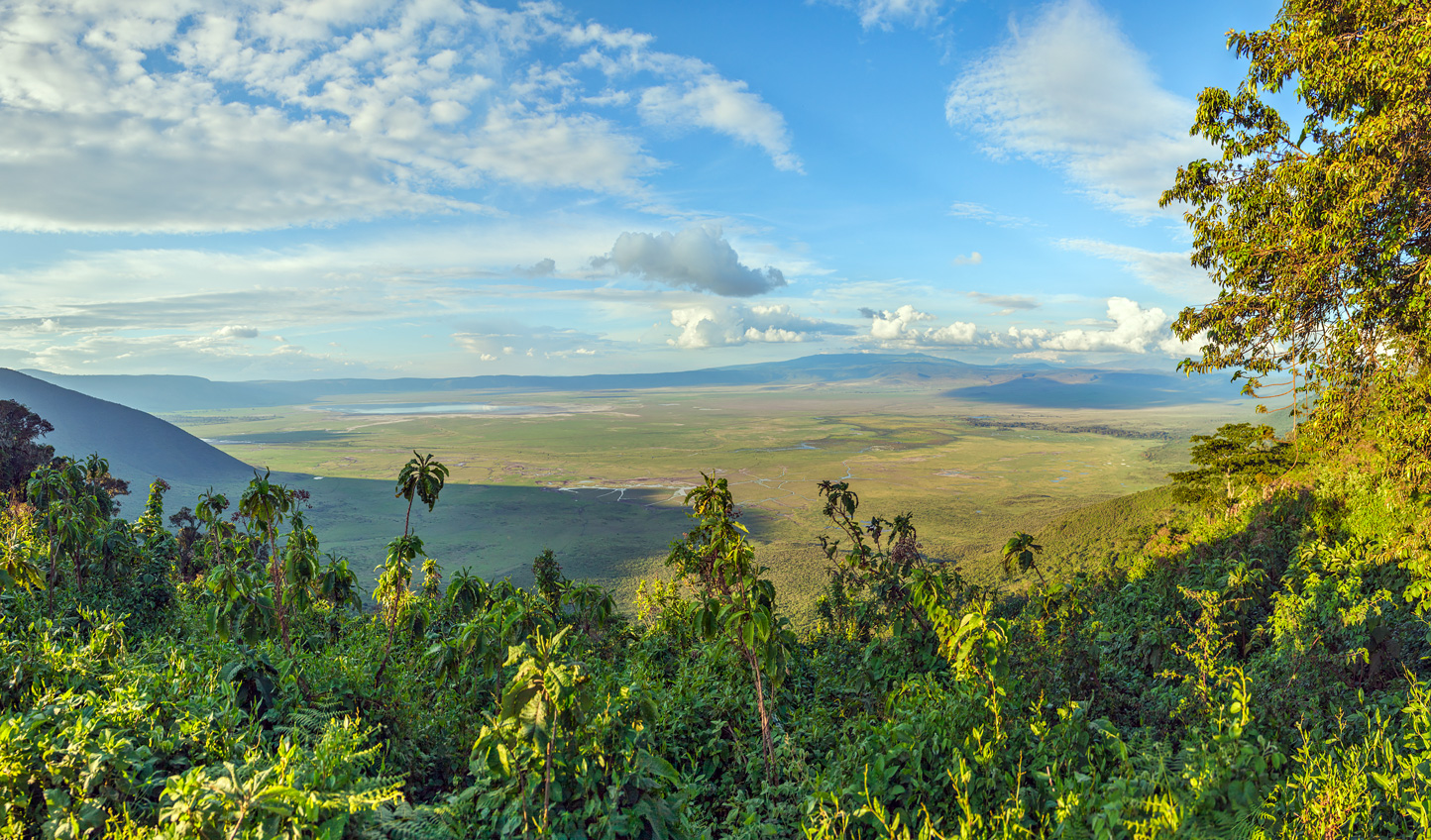 Admire the sweeping vistas from up top before heading down into the Crater