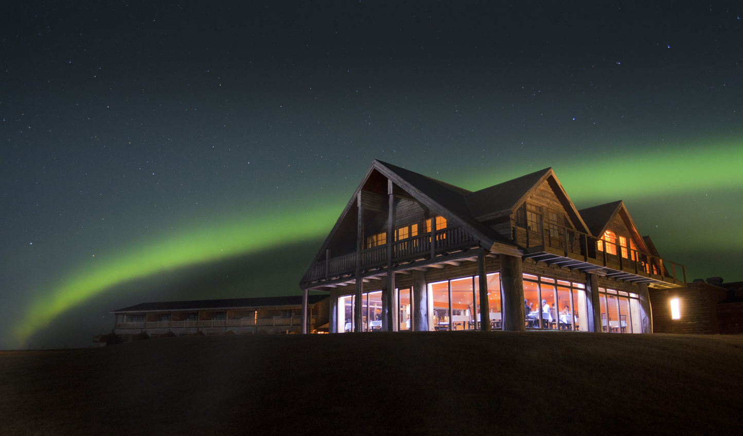 Catch the flicker of the Northern Lights up at Hotel Rangá