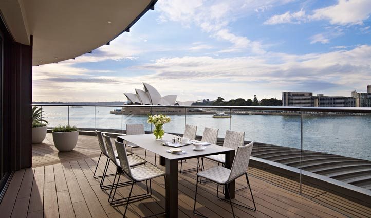 Terrace views over Sydney Opera House