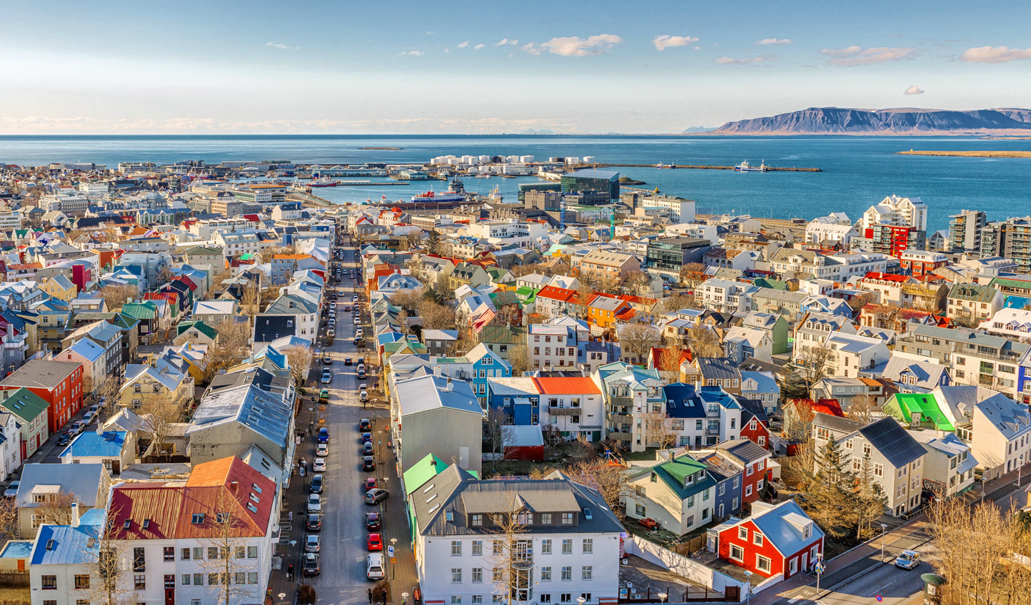 Stroll through the colourful streets of Reykjavik
