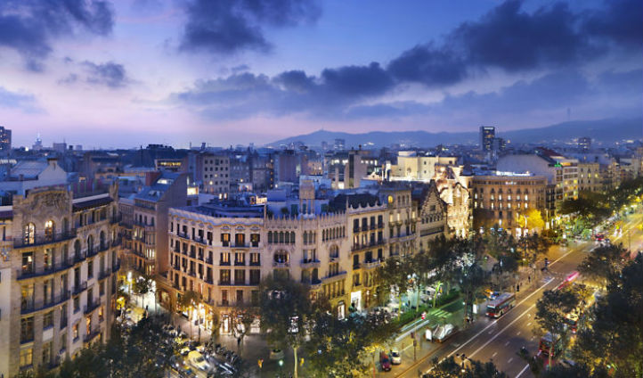 Views from your hotel; the Mandarin Oriental  Barcelona