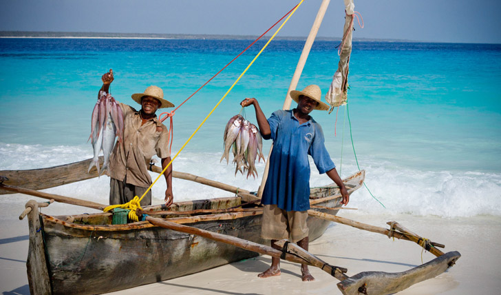 Fisherman at Mnemba Island