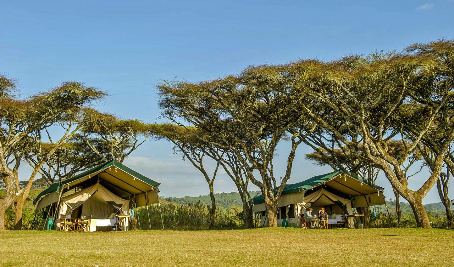 Stay close to the action at Sanctuary Ngorongoro Crater Camp