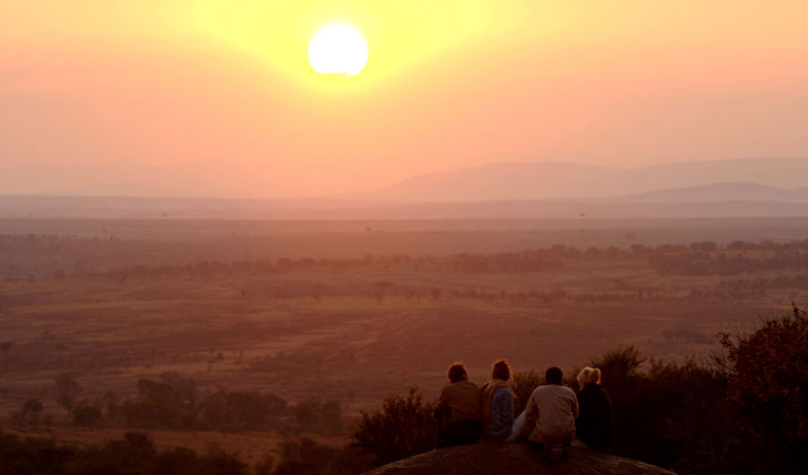 Awe at the Serengeti sunrise