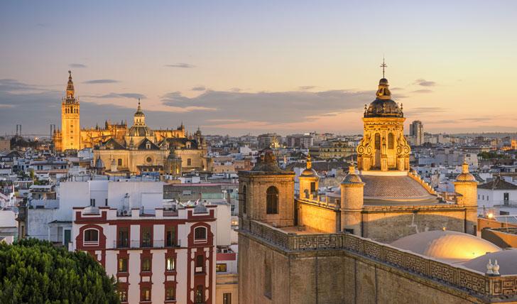Spanish sunset over Seville