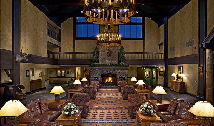 Entrance lobby at Tenaya Lodge | Yosemite
