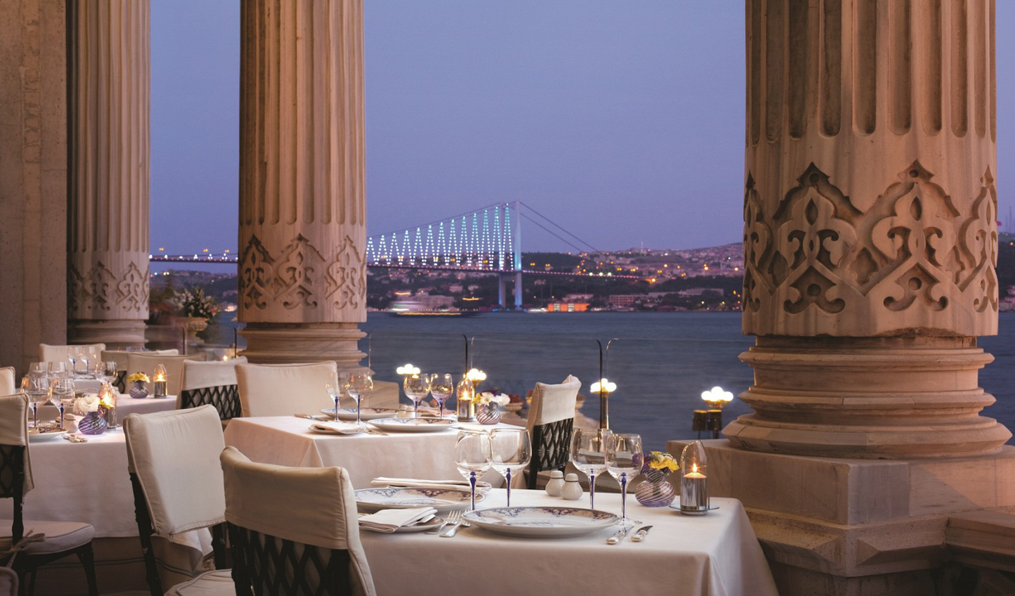 Enjoy dinner overlooking the Bosphorus