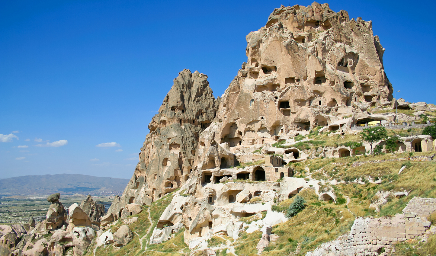 Climb Uçhisar Castle for spectacular views over the panoramic Pigeon Valley
