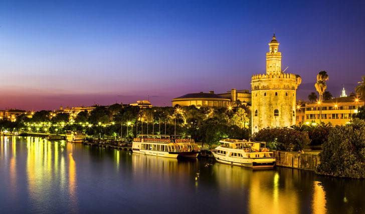 Visit the Golden Tower along Guadalquivir River