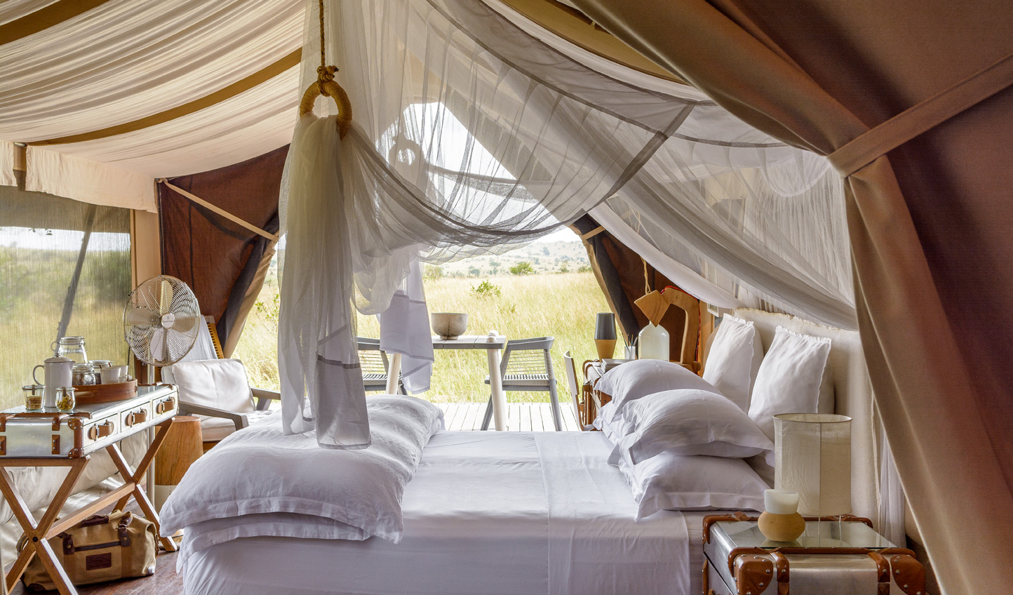 A touch of romanticism sweeps through your luxurious tent