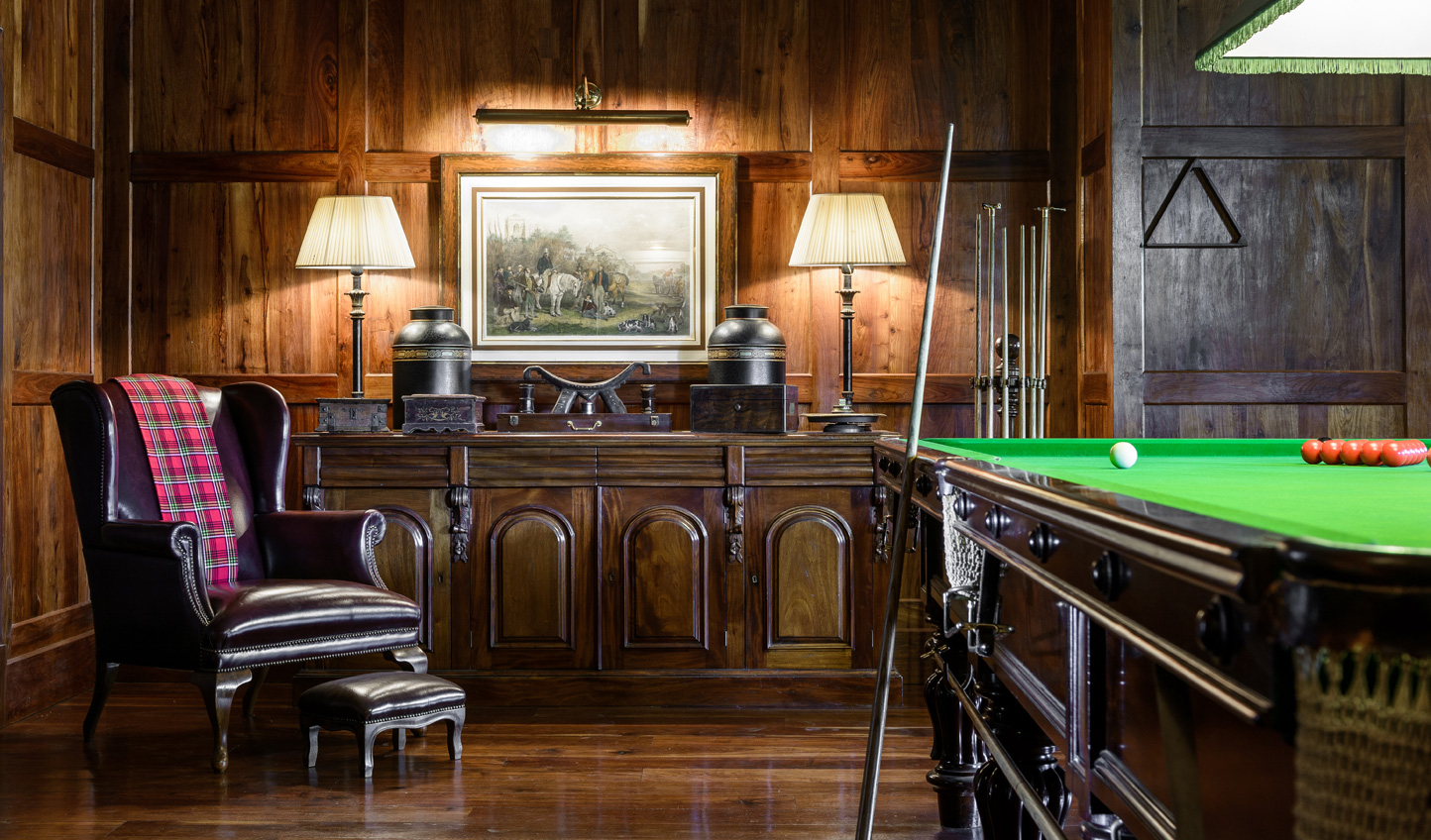Relax with a game of billiards
